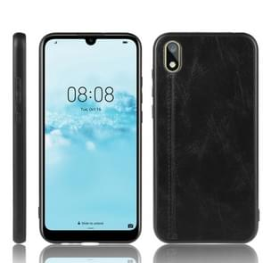 For Huawei Y5 2019 / Honor 8X Shockproof Sewing Cow Pattern Skin PC + PU + TPU Case(Black)