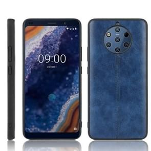 For Nokia 9 PureView Shockproof Sewing Cow Pattern Skin PC + PU + TPU Case(Blue)