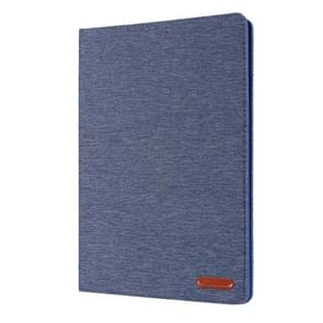 For iPad 10.2 Cloth Style TPU Flat Protective Shell(Deep Blue)