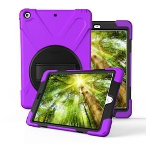 Voor iPad Pro10.5 / Air 10.5 2019 360 Graden Rotatie PC + Siliconen beschermhoes met houder & handriem(Paars)