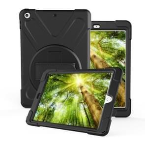 Voor iPad Pro10.5 / Air 10.5 2019 360 Graden Rotatie PC + Siliconen beschermhoes met houder & handriem(Zwart)