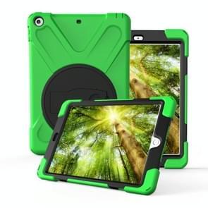 Voor Galaxy Tab S4 10.5 T830/T835 360 Graden Rotatie PC + Siliconen beschermhoes met houder & handband(Lichtgroen)