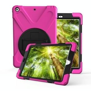 Voor Galaxy Tab S4 10.5 T830/T835 360 Graden Rotatie PC + Siliconen beschermhoes met houder & handband (Rose Red)
