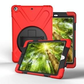 Voor Galaxy Tab S4 10.5 T830/T835 360 Graden Rotatie PC + Siliconen beschermhoes met houder & handband(Rood)