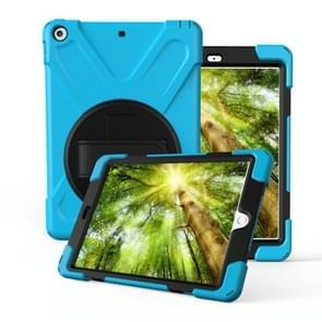 Voor Galaxy Tab S4 10.5 T830/T835 360 Graden Rotatie PC + Siliconen beschermhoes met houder & handband(Lichtblauw)