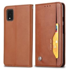 Voor Galaxy S11 plus Knead huidtextuur horizontale Flip lederen draagtas met foto frame & houder & kaartsleuven & portemonnee (bruin)