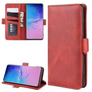 Voor Galaxy S11 plus Dual-Side magnetische Buckle horizontale Flip lederen draagtas met houder & kaartsleuven & portemonnee (rood)