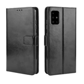 Voor Galaxy S20+ Retro Crazy Horse Texture Horizontal Flip Leather Case met Holder & Card Slots & Photo Frame(Black)