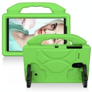 For Galaxy Tab A 8.0  T387 EVA FlatBrain Anti Falling Sleeve Protective Shell WithThumb Bracket(Green)