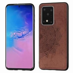 Voor Galaxy S11 plus reliëf Mandala patroon PC + TPU + stof telefoon geval met Lanyard & magnetische (Brown)