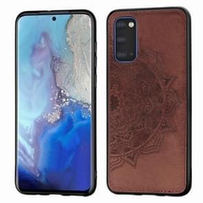 Voor Galaxy S11e reliëf Mandala patroon PC + TPU + stof telefoon geval met Lanyard & magnetische (Brown)