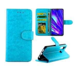 Voor OPPO Realme5 Pro Crazy Horse textuur leer horizontale Flip beschermende case met houder & kaartsleuven & portemonnee & fotolijstjes (Baby Blue)