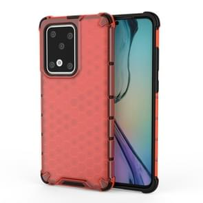 Voor Huawei P40 Pro Shockproof Honeycomb PC + TPU Case(Red)
