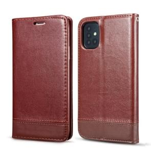 Voor Galaxy S20 Dubbelzijdige Absorptie Splicing Horizontale Flip Lederen Case met Houder Card Slots Lanyard (Bruin)