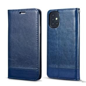 Voor Galaxy S20 Dubbelzijdige absorptie splicing horizontale flip lederen zaak met houder card slots Lanyard (Blauw)