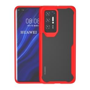 Voor Huawei P40 Transparante PC + TPU Full Coverage Shockproof Protective Case(Red)