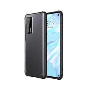 Voor Huawei P40 vierhoek schokbestendige TPU + PC beschermhoes (zwart)