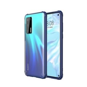 Voor Huawei P40 Vierhoekschokbestendige TPU + PC Beschermhoes (Blauw)