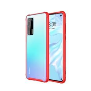 Voor Huawei P40 Vierhoekschokbestendige TPU + PC Beschermhoes (Rood)