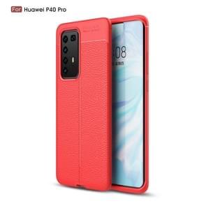 Voor Huawei P40 Pro Litchi textuur TPU shock proof geval (rood)
