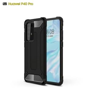 Voor Huawei P40 Pro Magic Armor TPU + PC Combination Case(Zwart)