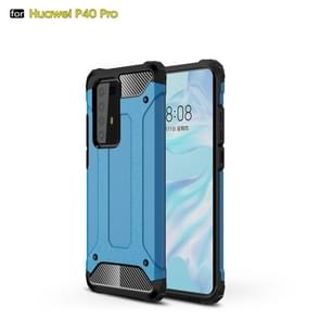 Voor Huawei P40 Pro Magic Armor TPU + PC Combination Case(Blauw)