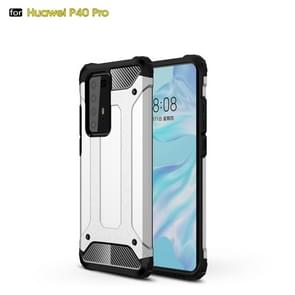 Voor Huawei P40 Pro Magic Armor TPU + PC Combination Case(Zilver)