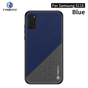 Voor Galaxy S11e/S20 PINWUYO Rong serie schokbestendige PC + TPU + chemische Fiber doek beschermende cover (blauw)