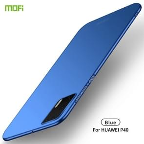 Voor Huawei P40 MOFI Frosted PC Ultra-thin Hard Case (Blauw)
