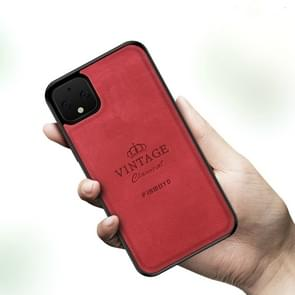 Voor Google Pixel 4 PINWUYO Zun Series PC + TPU + Skin Patch Waterproof Anti-fall All-inclusive Protective Shell(Red)