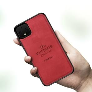 Voor Google Pixel 4 XL PINWUYO Zun Series PC + TPU + Skin Patch Waterproof Anti-fall All-inclusive Protective Shell(Red)