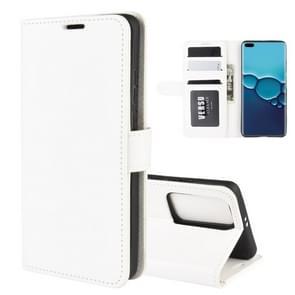 Voor Huawei P40 R64 Texture Single Horizontal Flip PU Leather Case met Holder & Card Slots & Wallet en Photo Frame(White)