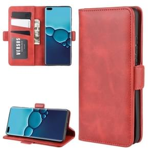 Voor Huawei P40 Dual-side Magnetic Buckle Horizontal Flip PU Leather Case met Holder & Card Slots & Wallet(Red)