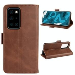 Voor Huawei P40 Pro Dual-side Magnetic Buckle Horizontal Flip Leather Case met Holder & Card Slots & Wallet & Photo Frame(Brown)