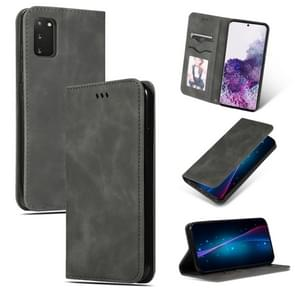 Voor Galaxy S20 retro skin feel business magnetic horizontal flip leather case (donkergrijs)