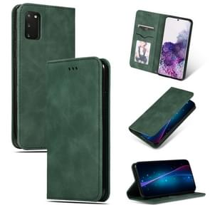 Voor Galaxy S20 Retro Skin Feel Business Magnetic Horizontal Flip Leather Case (Army Green)