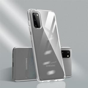 Voor Galaxy S20 Color Botton Ultra-dunne Clear TPU Case (Transparant+Transparant)