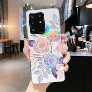 Voor Galaxy S20 Kleurrijke Laser Flower Series IMD TPU mobiele telefoon geval (Begonia Bloemen KL2)