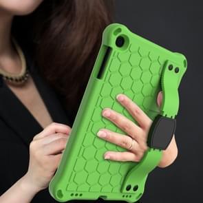 Voor iPad mini 5 / 4 / 3 / 2 /1 Honeycomb Design EVA + PC Four Corner Anti Falling Flat Protective Shell With Straps (Groen+Zwart)