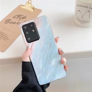 Voor Galaxy A71 Hoge Kwaliteit TPU Gladde gemarmerde IMD mobiele telefoon case (Blauwe F7)
