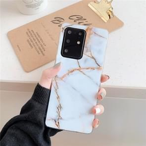 Voor Galaxy A71 Hoge Kwaliteit TPU Gladde gemarmerde IMD mobiele telefoon case (Gold F23)