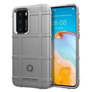 Voor Huawei P40 Pro Full Coverage Shockproof TPU Case(Grijs)
