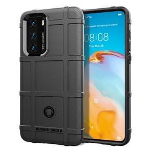 Voor Huawei P40 Full Coverage Shockproof TPU Case(Zwart)
