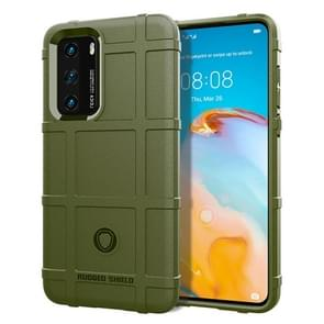 Voor Huawei P40 Full Coverage Shockproof TPU Case (Army Green)