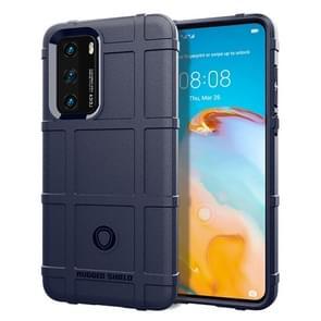 Voor Huawei P40 Full Coverage Shockproof TPU Case(Blue)