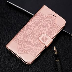 Voor Xiaomi Mi 10 & 10 Pro Mandala Embossing Pattern Horizontal Flip Leather Case met Holder & Card Slots & Wallet & Photo Frame & Lanyard(Rose Gold)