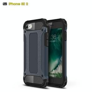 Voor iPhone SE 2020 Magic Armor TPU + PC Combination Case(Navy Blue)