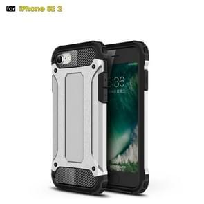 Voor iPhone SE 2020 Magic Armor TPU + PC Combination Case(Zilver)
