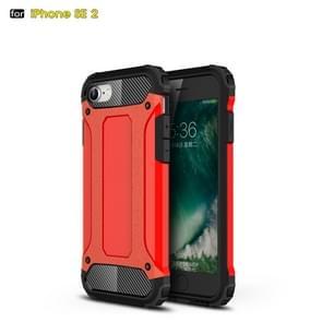 Voor iPhone SE 2020 Magic Armor TPU + PC Combination Case(Rood)
