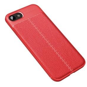 Voor iPhone SE 2020 Litchi Texture TPU Shockproof Case(Rood)